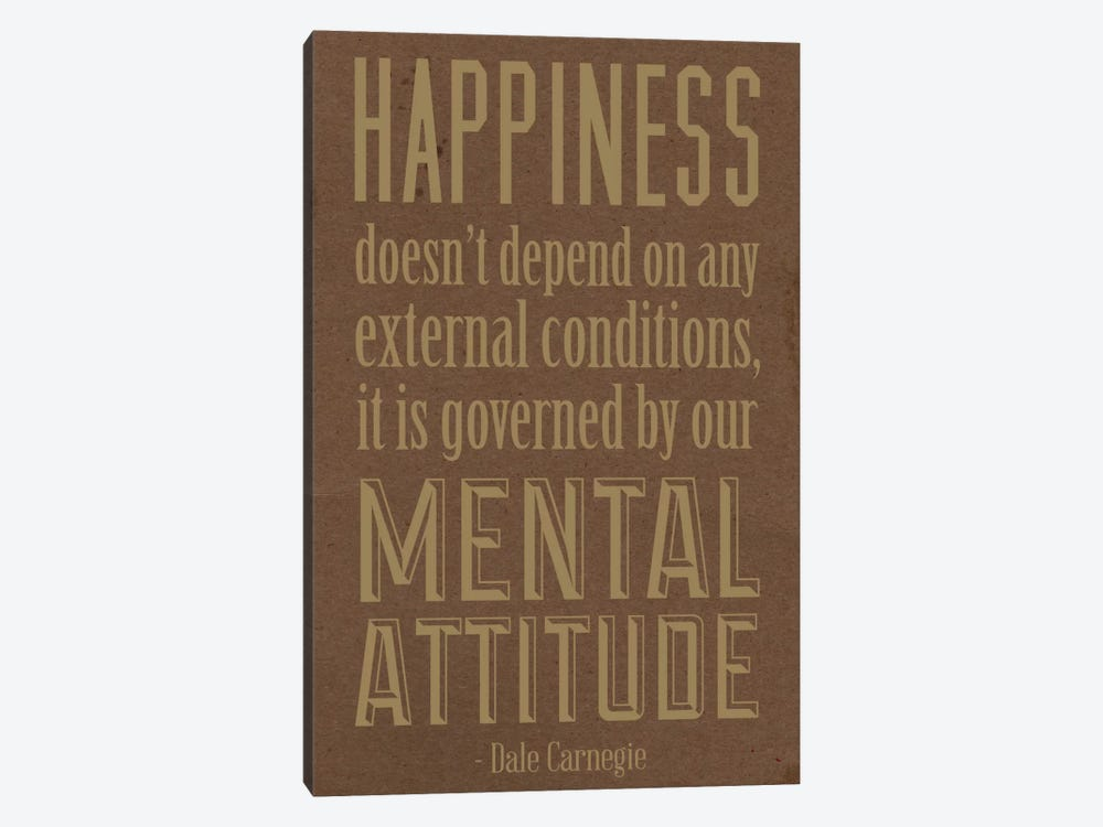 Happiness According to Carnegie 2 by iCanvas 1-piece Art Print