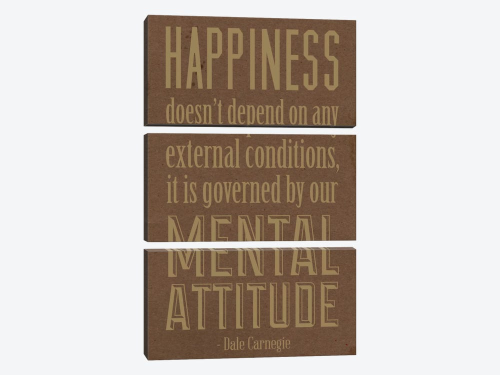 Happiness According to Carnegie 2 by iCanvas 3-piece Canvas Art Print