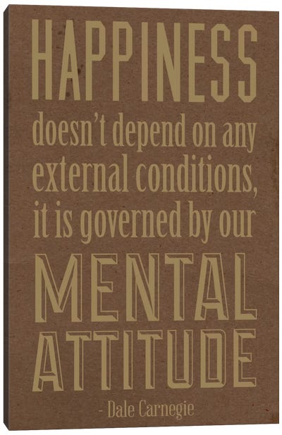 Happiness According to Carnegie 2 Canvas Art Print