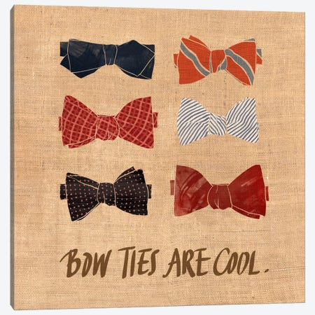 Bow Ties Canvas Print #ICA583} by 5by5collective Canvas Print