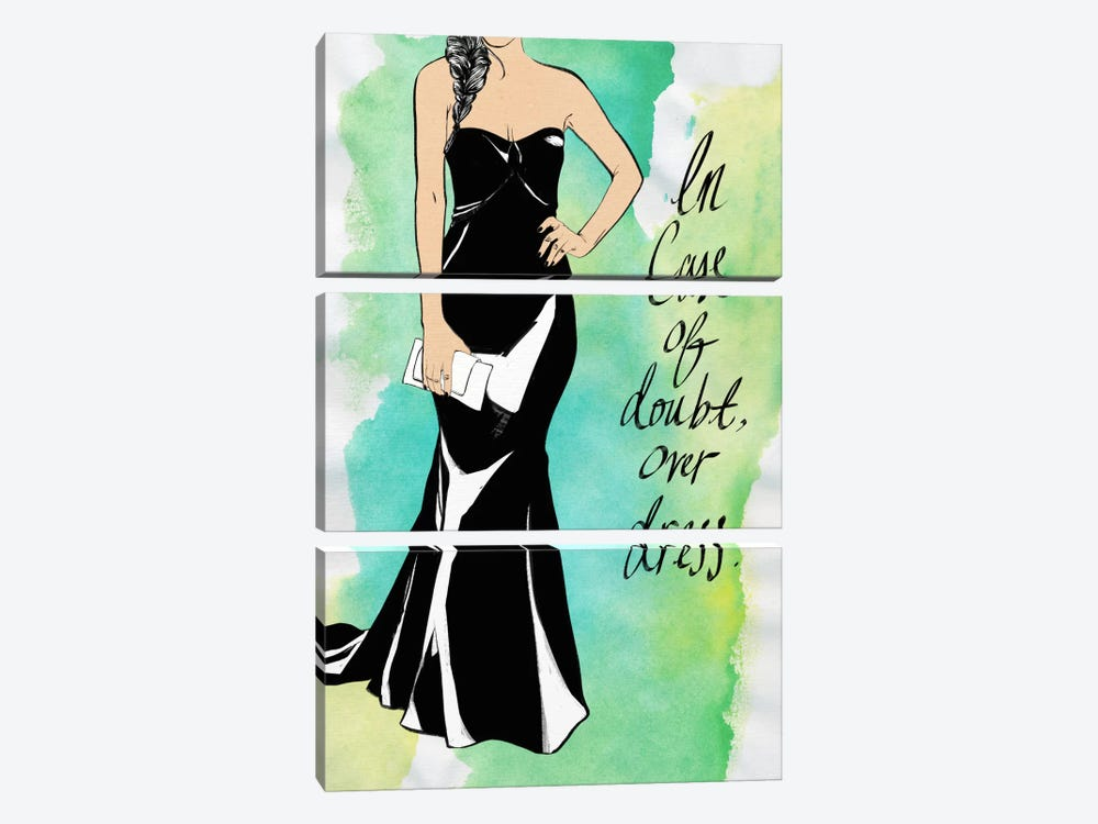 Overdress by 5by5collective 3-piece Canvas Art