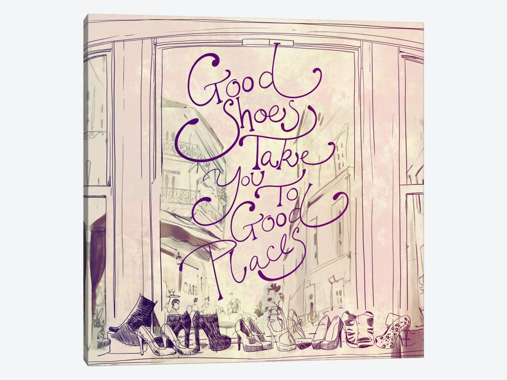 Good Shoes by 5by5collective 1-piece Canvas Wall Art