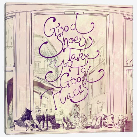 Good Shoes Canvas Print #ICA595} by 5by5collective Canvas Print