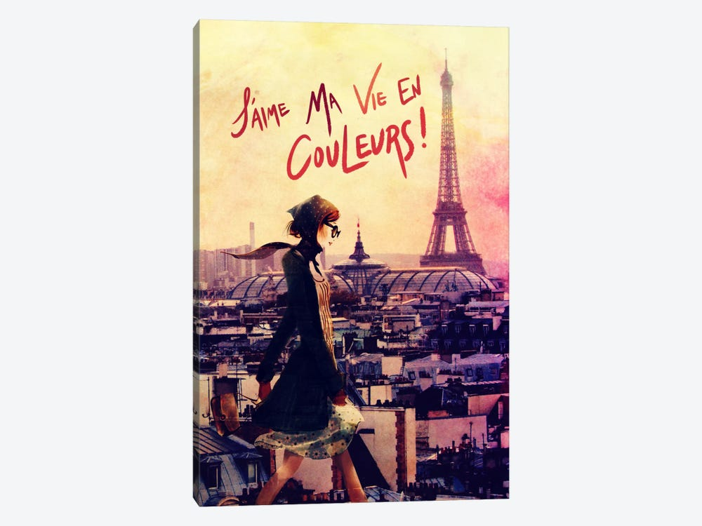 Parisian Walk by 5by5collective 1-piece Canvas Artwork