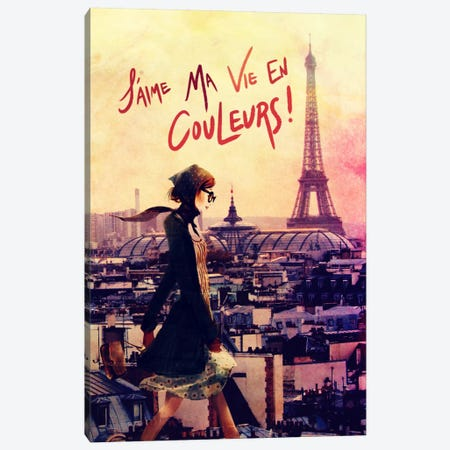 Parisian Walk Canvas Print #ICA597} by 5by5collective Canvas Art Print