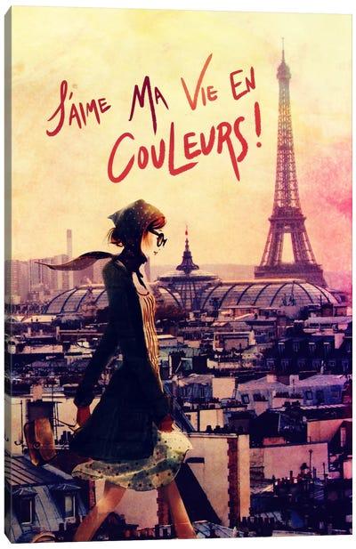 Parisian Walk Canvas Art Print