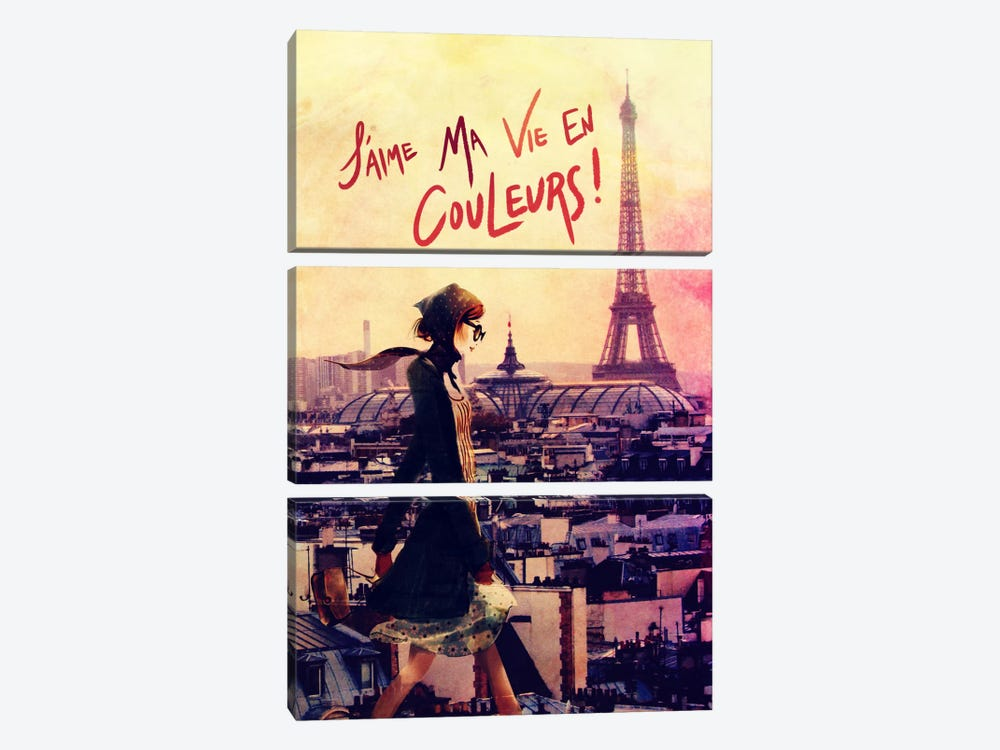Parisian Walk by 5by5collective 3-piece Canvas Art