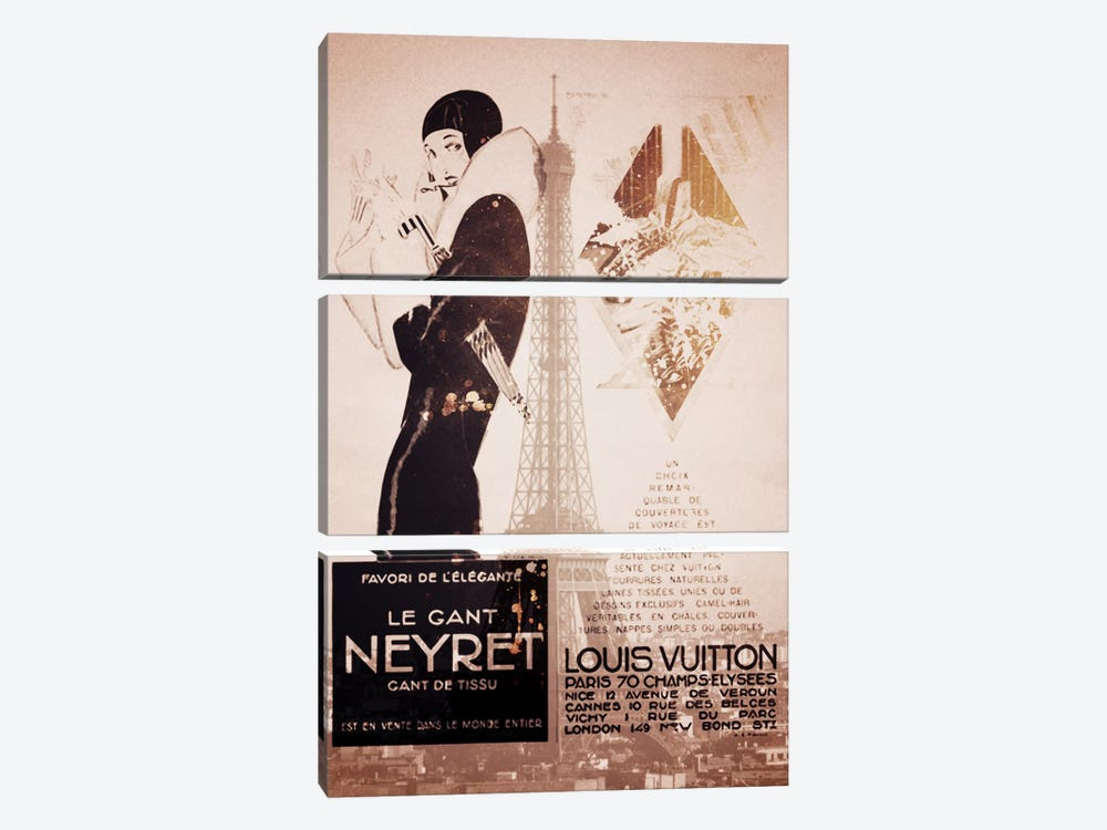 Parisian Style Vintage by 5by5collective 3-piece Canvas Wall Art