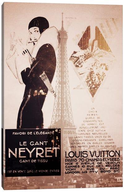 Parisian Style Vintage Canvas Art Print