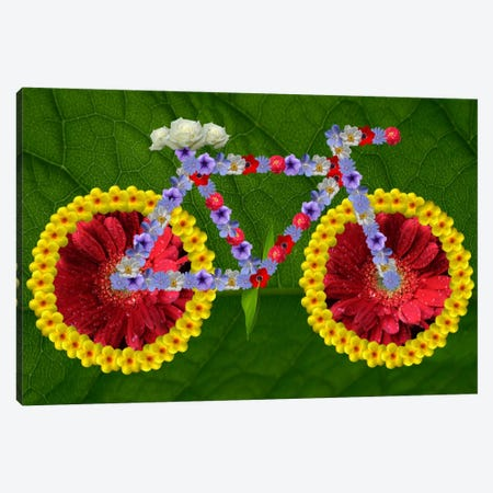 Green Thumb Cycle Canvas Print #ICA59} by Unknown Artist Canvas Wall Art