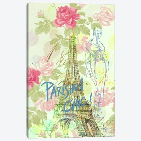 Parisian Chic Canvas Print #ICA603} by 5by5collective Canvas Artwork
