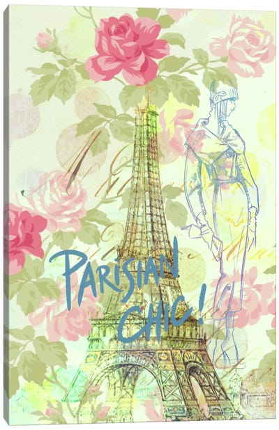 Parisian Chic Canvas Art Print