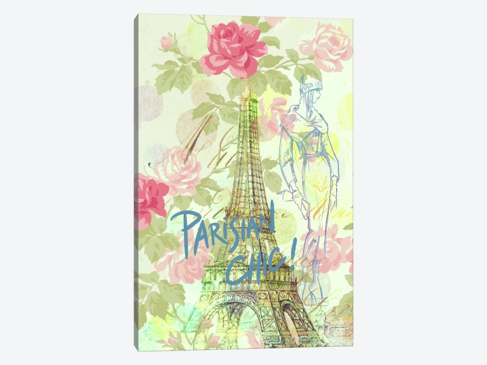 Parisian Chic by 5by5collective 1-piece Canvas Print