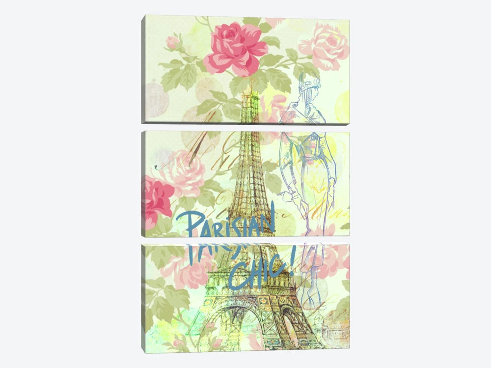 Parisian Chic by 5by5collective 3-piece Canvas Print