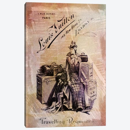 Traveling Requisites Canvas Print #ICA604} by 5by5collective Art Print