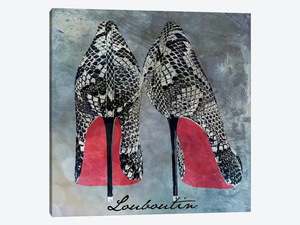Red Bottom Snakes by 5by5collective 1-piece Canvas Art Print