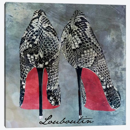 Red Bottom Snakes Canvas Print #ICA607} by 5by5collective Canvas Art Print