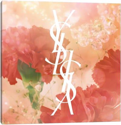 Diamonds and Carnations Canvas Art Print