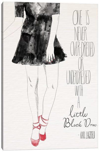 Little Black Dress Canvas Print #ICA629