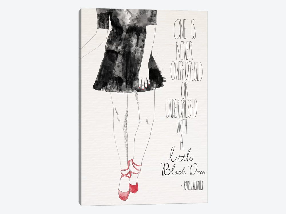 Little Black Dress by 5by5collective 1-piece Canvas Art Print