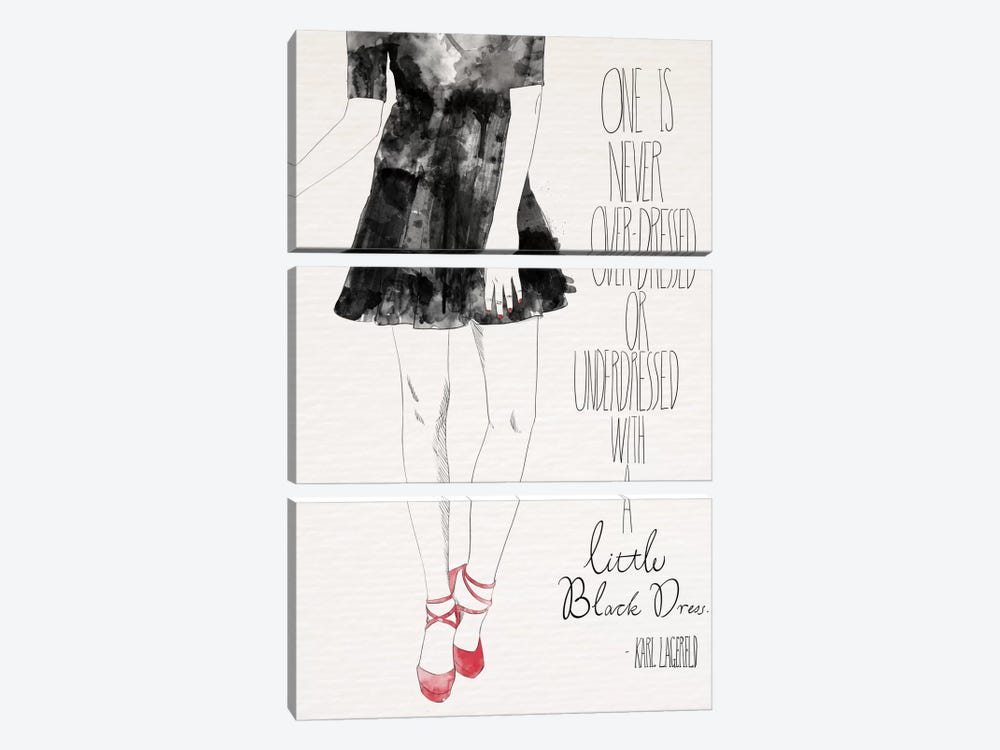 Little Black Dress by 5by5collective 3-piece Canvas Print