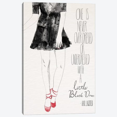 Little Black Dress Canvas Print #ICA629} by 5by5collective Canvas Wall Art