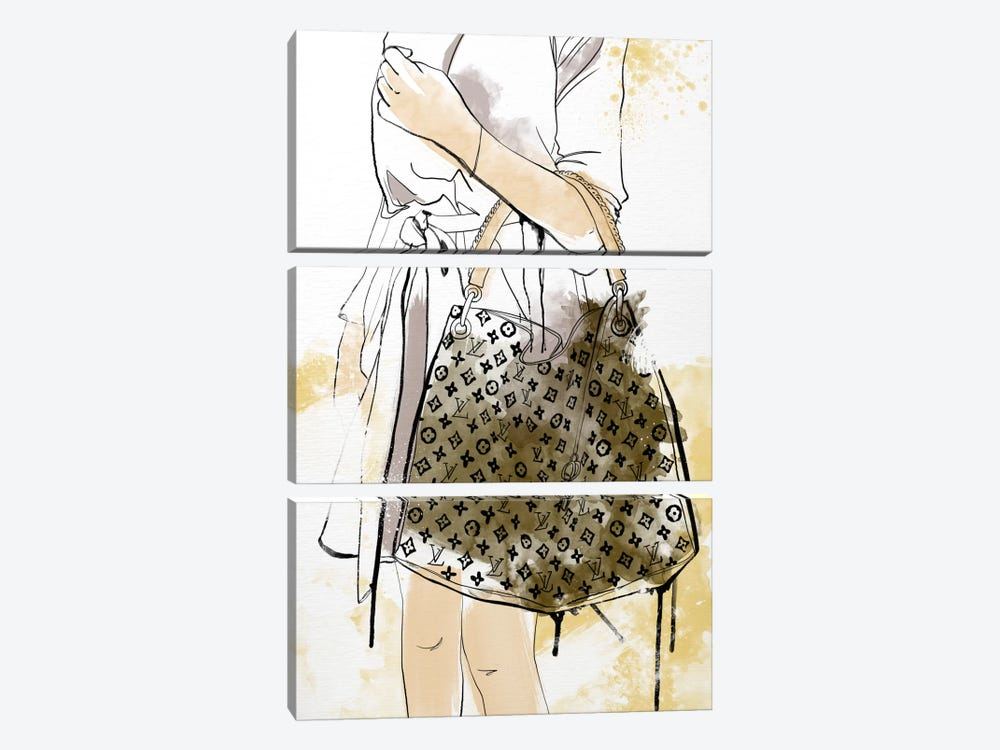 Bags Are My Weakness by 5by5collective 3-piece Canvas Art