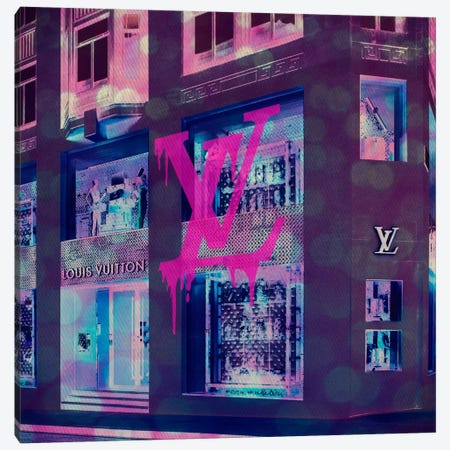 LV Store Pop Canvas Print #ICA637} by 5by5collective Canvas Art