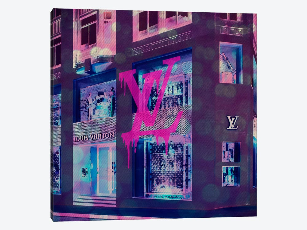 LV Store Pop by 5by5collective 1-piece Canvas Art