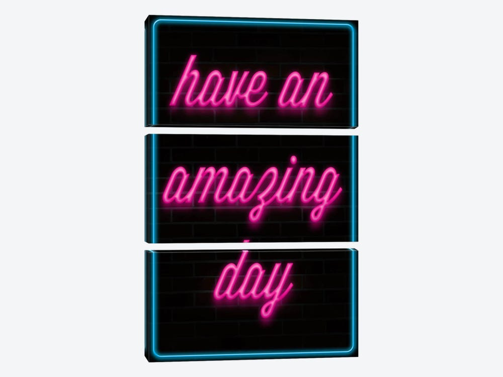 Have An Amazing Day by iCanvas 3-piece Canvas Print