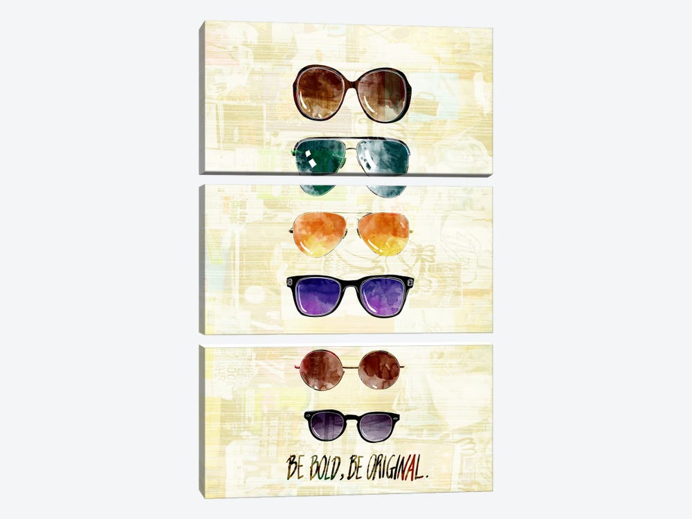 Be Bold, Be Original by 5by5collective 3-piece Canvas Art Print