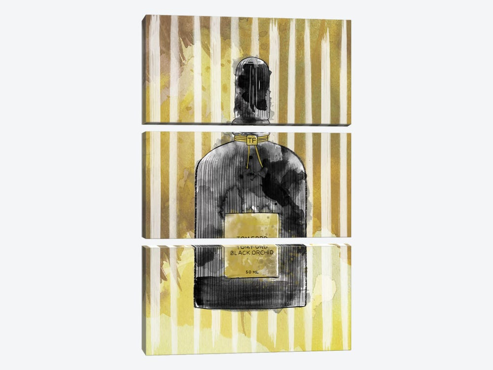 Black Orchid by 5by5collective 3-piece Canvas Artwork