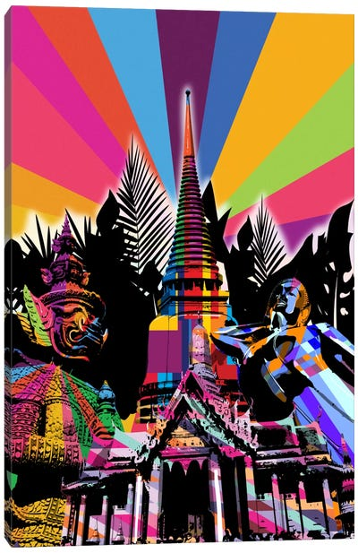 Bangkok Psychedelic Pop Canvas Art Print