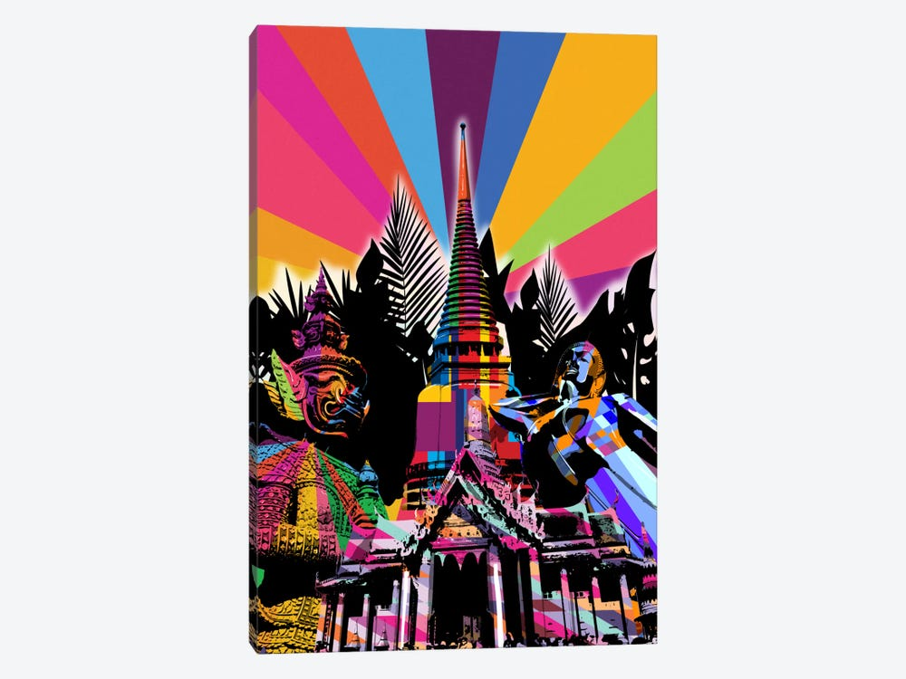 Bangkok Psychedelic Pop by 5by5collective 1-piece Canvas Artwork