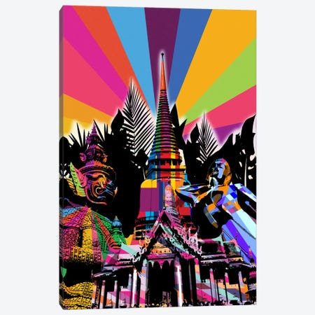 Bangkok Psychedelic Pop 3-Piece Canvas #ICA644} by 5by5collective Art Print