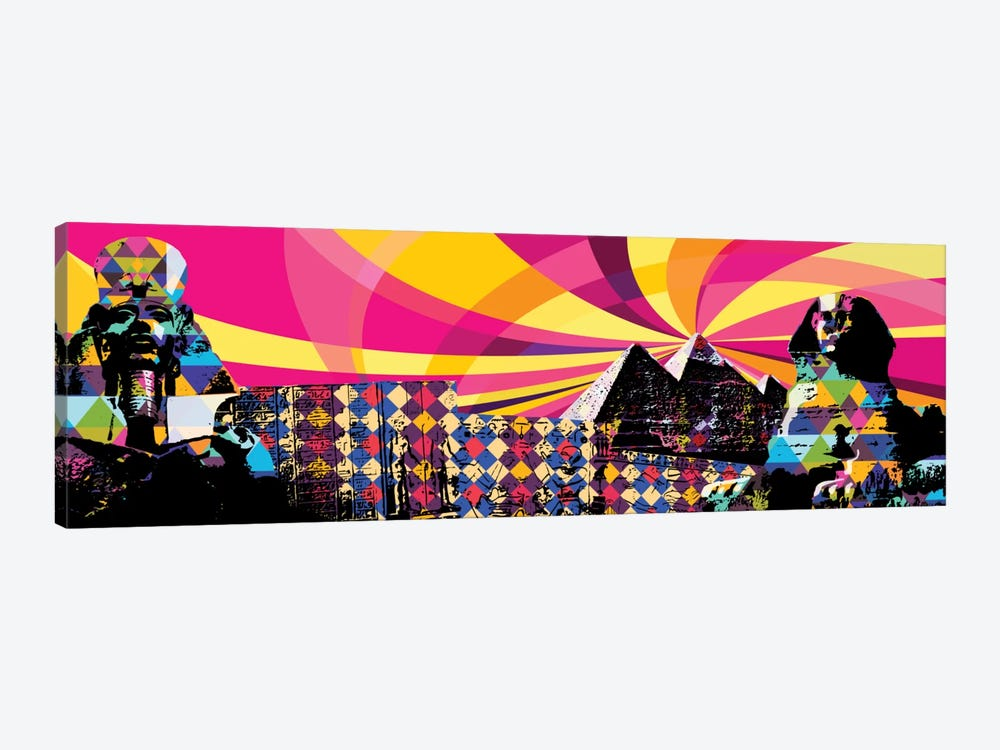 Cairo Psychedelic Pop by 5by5collective 1-piece Canvas Artwork