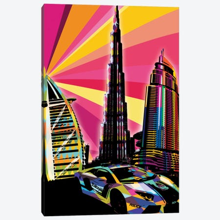 Dubai Psychedelic Pop Canvas Print #ICA647} by 5by5collective Canvas Art Print