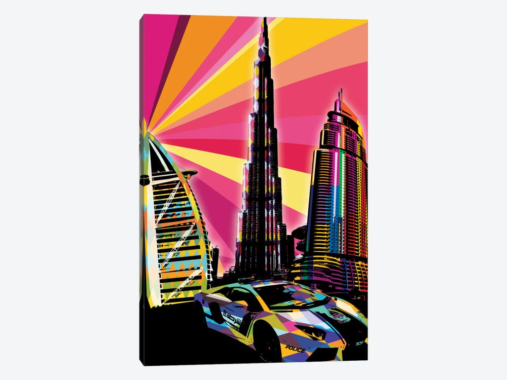 Dubai Psychedelic Pop by 5by5collective 1-piece Art Print