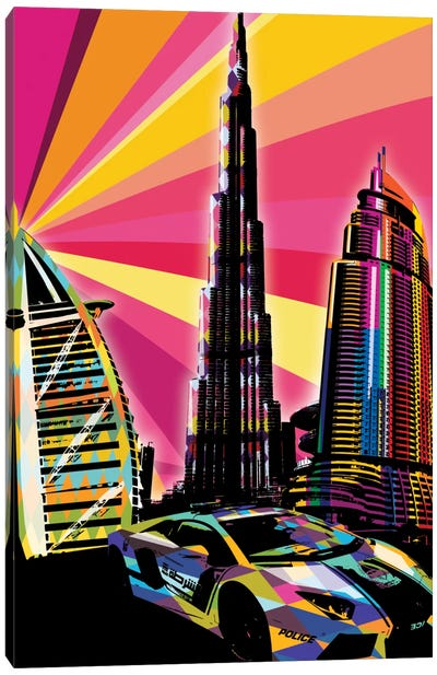 Dubai Psychedelic Pop Canvas Art Print