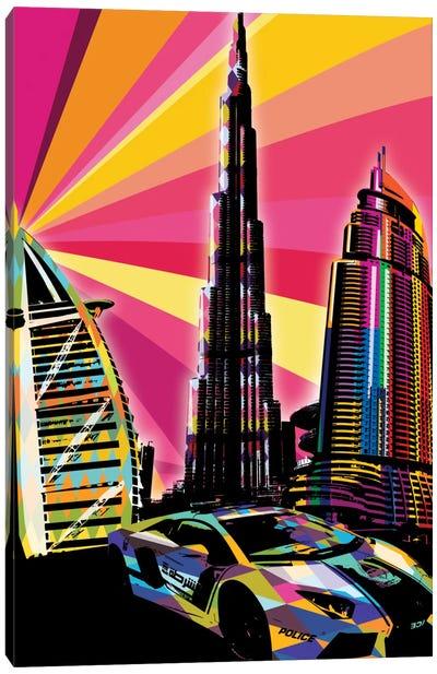 Dubai Psychedelic Pop Canvas Art Print