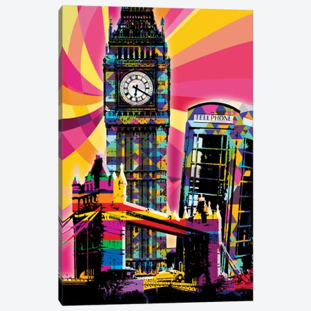 London Psychedelic Pop Canvas Print #ICA648} by 5by5collective Canvas Artwork