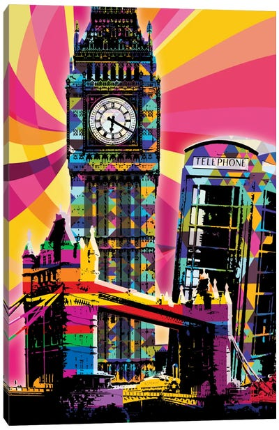 London Psychedelic Pop Canvas Art Print