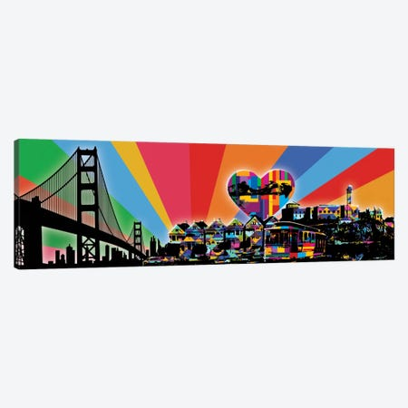 San Fransisco Psychedelic Pop Canvas Print #ICA649} by 5by5collective Canvas Art