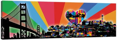 San Fransisco Psychedelic Pop Canvas Art Print