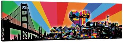 San Francisco Psychedelic Pop Canvas Art Print
