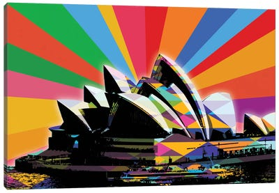 Sydney Psychedelic Pop Canvas Art Print