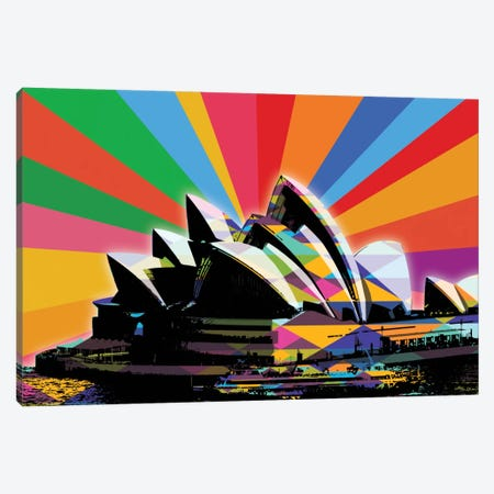 Sydney Psychedelic Pop Canvas Print #ICA650} by 5by5collective Canvas Art Print