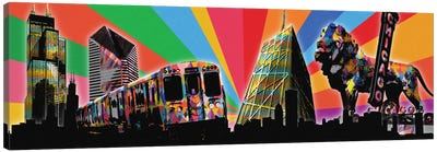 Chicago Psychedelic Pop Canvas Art Print