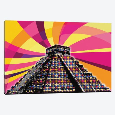 Chichenitza Psychedelic Pop Canvas Print #ICA652} by 5by5collective Art Print