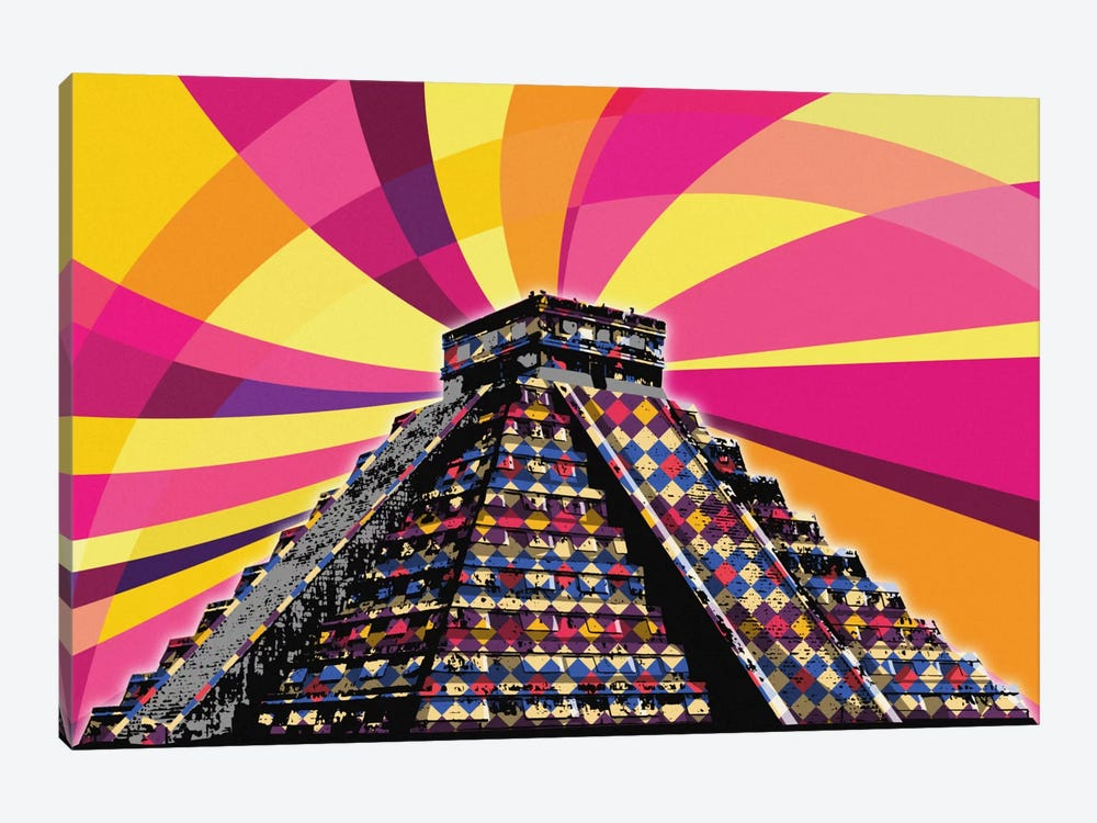 Chichenitza Psychedelic Pop by 5by5collective 1-piece Art Print